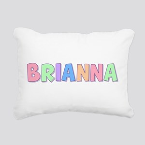 Brianna Rainbow Pastel Rectangular Canvas Pillow