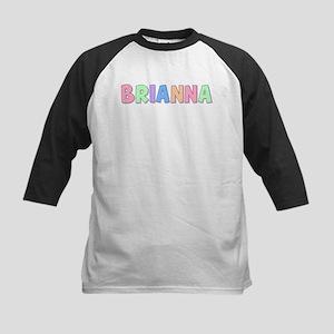 Brianna Rainbow Pastel Kids Baseball Jersey