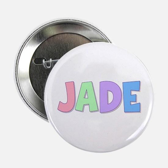 Jade Rainbow Pastel Button