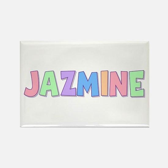 Jazmine Rainbow Pastel Rectangle Magnet