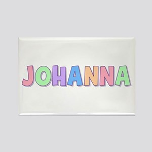 Johanna Rainbow Pastel Rectangle Magnet