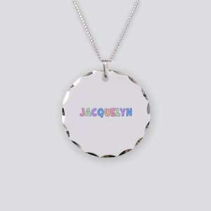 Jacquelyn Rainbow Pastel Necklace Circle Charm