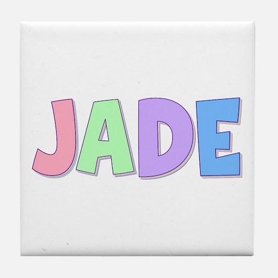 Jade Rainbow Pastel Tile Coaster