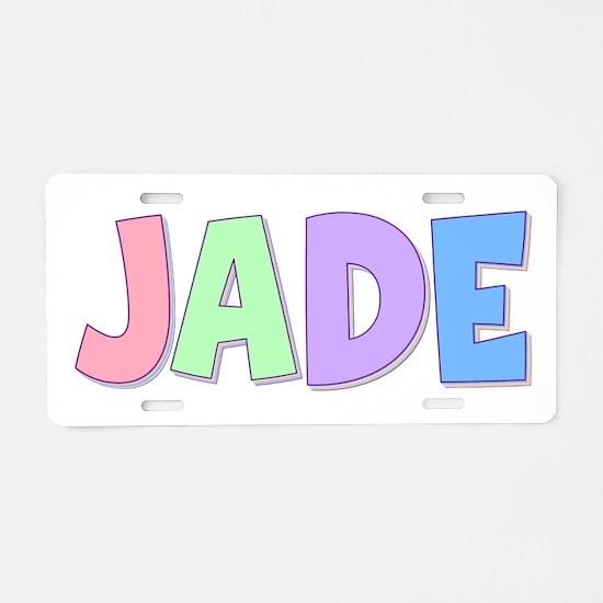 Jade Rainbow Pastel Aluminum License Plate