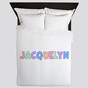Jacquelyn Rainbow Pastel Queen Duvet