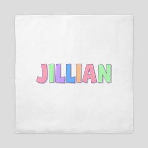 Jillian Rainbow Pastel Queen Duvet