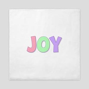 Joy Rainbow Pastel Queen Duvet