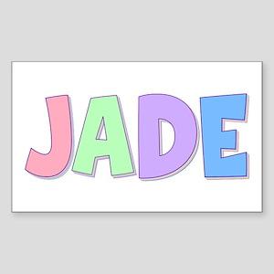 Jade Rainbow Pastel Rectangle Sticker