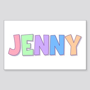 Jenny Rainbow Pastel Rectangle Sticker