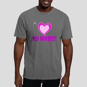 I Love MY COACH Mens Comfort Colors Shirt
