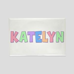 Katelyn Rainbow Pastel Rectangle Magnet