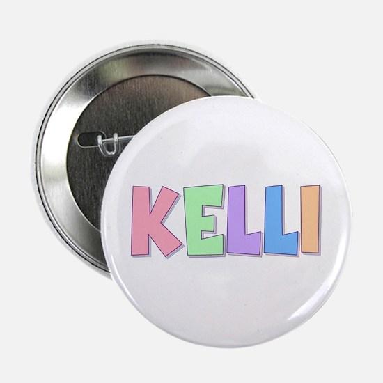 Kelli Rainbow Pastel Button