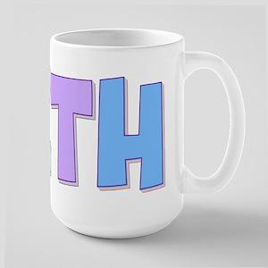Beth Rainbow Pastel Large Mug