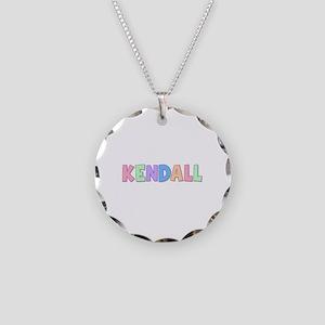Kendall Rainbow Pastel Necklace Circle Charm