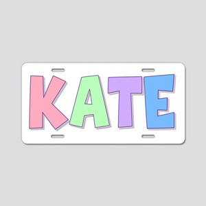 Kate Rainbow Pastel Aluminum License Plate