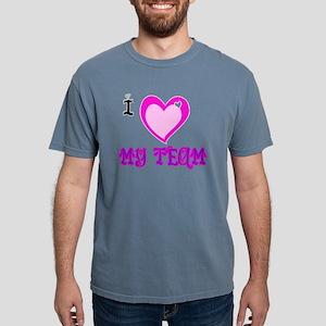 I Love MY TEAM Mens Comfort Colors Shirt