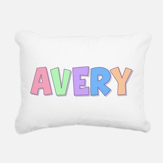 Avery Rainbow Pastel Rectangular Canvas Pillow
