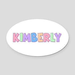 Kimberly Rainbow Pastel Oval Car Magnet