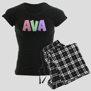 Ava Rainbow Pastel Women's Dark Pajamas