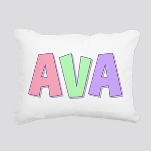 Ava Rainbow Pastel Rectangular Canvas Pillow