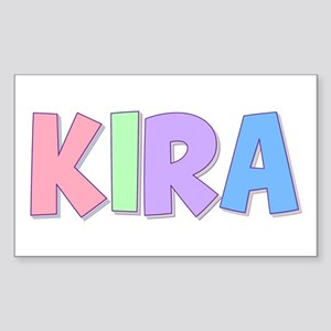 Kira Rainbow Pastel Rectangle Sticker