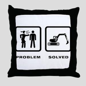 Excavating Throw Pillow