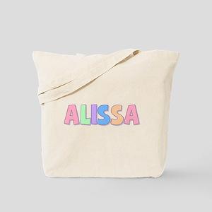 Alissa Rainbow Pastel Tote Bag