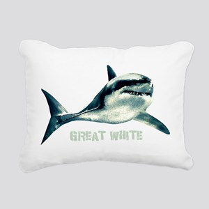 Great White Rectangular Canvas Pillow