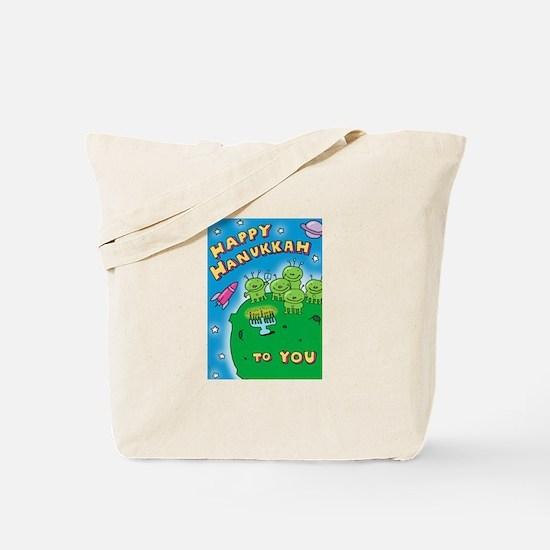 Hanukkah Aliens Tote Bag