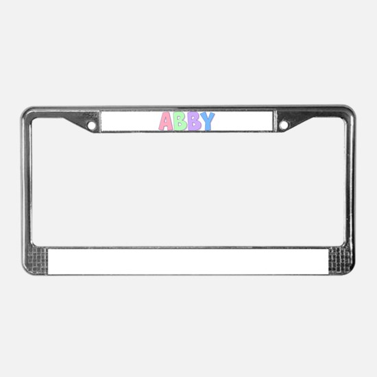 Abby Rainbow Pastel License Plate Frame