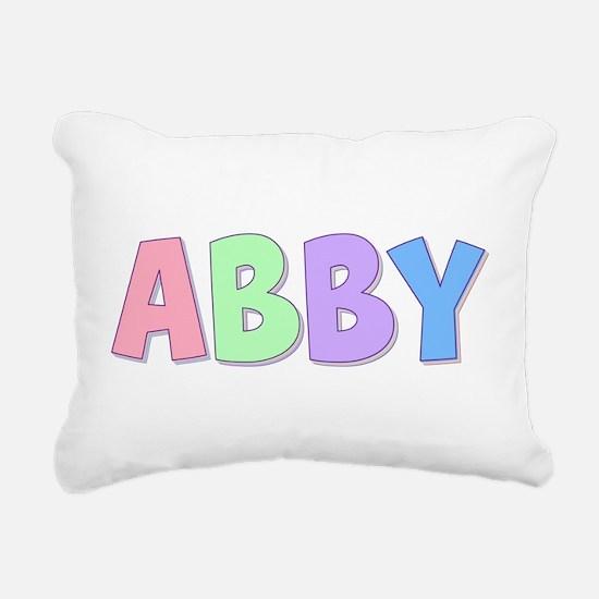 Abby Rainbow Pastel Rectangular Canvas Pillow