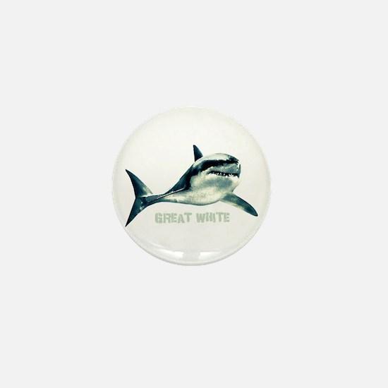 Great White Mini Button