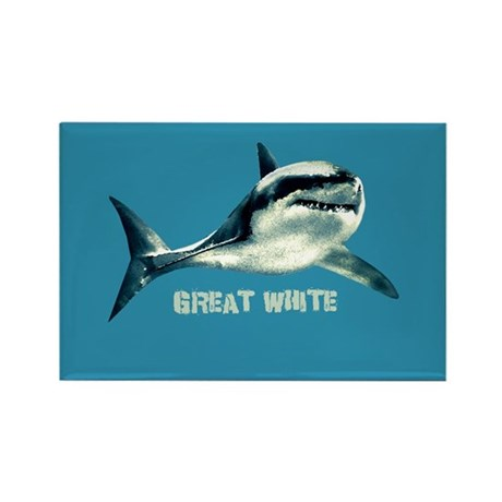 Great White Rectangle Magnet