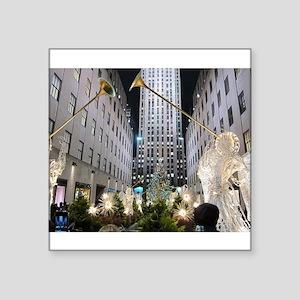 "Rockefeller Center at Christmas Square Sticker 3"""