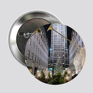 """Rockefeller Center at Christmas 2.25"""" Button"""