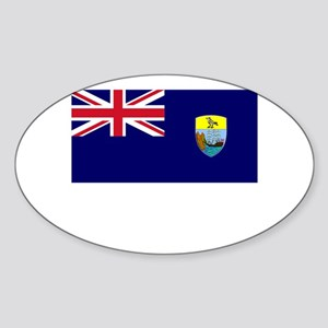 Saint Helena Flag Picture Oval Sticker