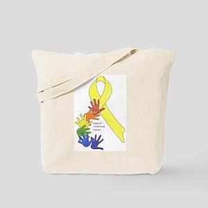 Hands up for Childhood Cancer Awareness Tote Bag