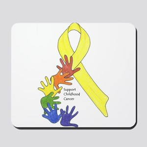 Hands up for Childhood Cancer Awareness Mousepad