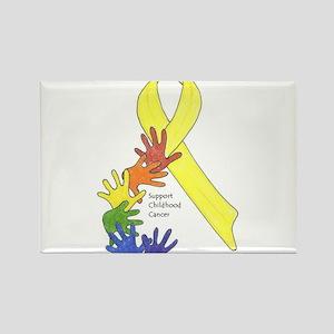 Hands up for Childhood Cancer Awareness Rectangle