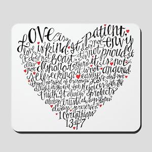 Love is patient Corinthians 13:4-7 Mousepad
