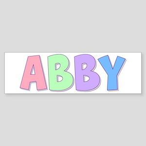 Abby Rainbow Pastel Bumper Sticker