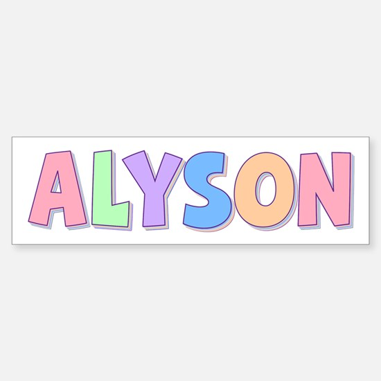 Alyson Rainbow Pastel Bumper Bumper Bumper Sticker