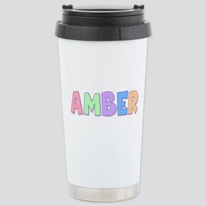 Amber Rainbow Pastel Stainless Steel Travel Mug