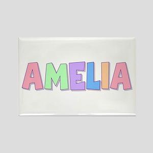 Amelia Rainbow Pastel Rectangle Magnet
