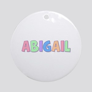 Abigail Rainbow Pastel Round Ornament