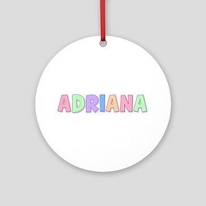 Adriana Rainbow Pastel Round Ornament