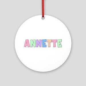 Annette Rainbow Pastel Round Ornament