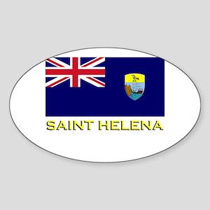 Saint Helena Flag Stuff Oval Sticker