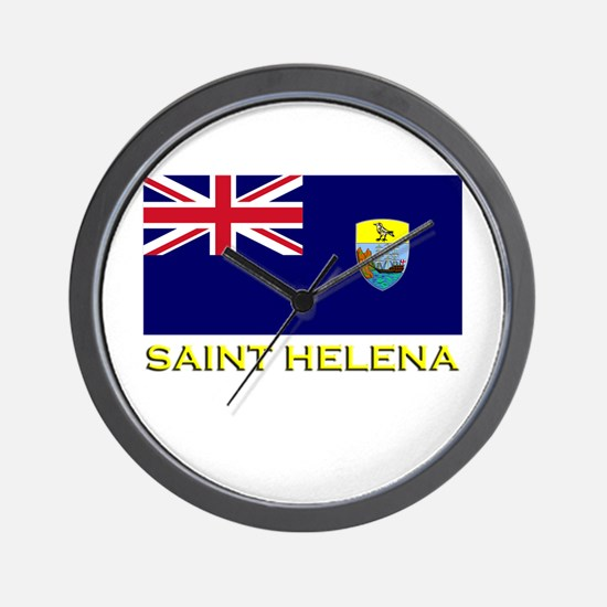 Saint Helena Flag Stuff Wall Clock