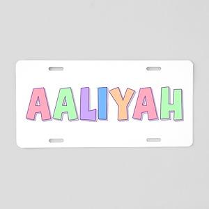 Aaliyah Rainbow Pastel Aluminum License Plate